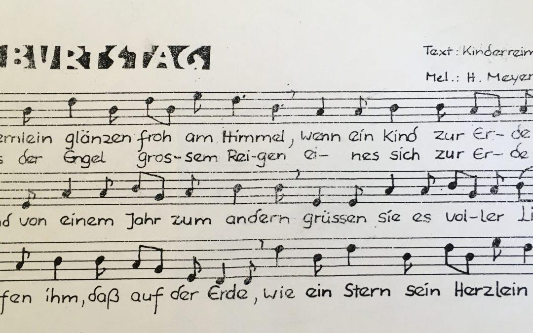 Waldorf Lieder und Sprüche zum Geburtstag