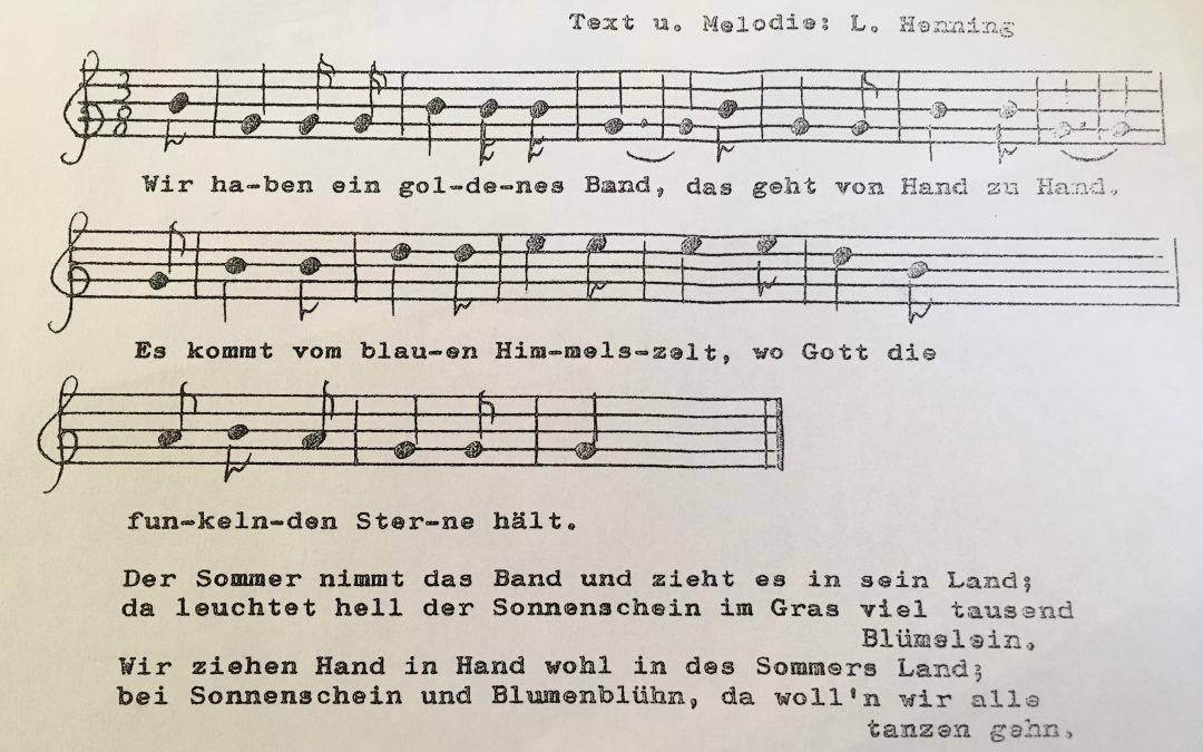 Waldorf Lied: Wir haben ein goldenes Band