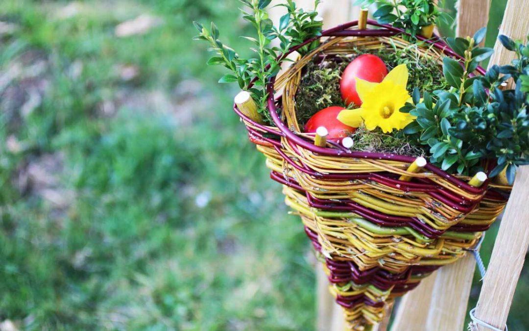 Weidenkorb für Ostern